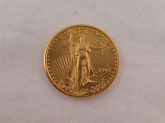 2005 1/10 gold Eagle 135.00